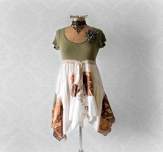 Shabby Chic Shirt Women's Tunic Dress by BrokenGhostClothing