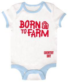 Country Boy Baby Onesie