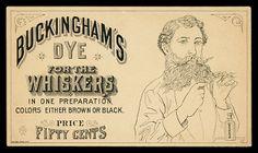 Vintage card for beard dye. Vintage Labels, Vintage Ephemera, Vintage Cards, Vintage Graphic Design, Graphic Design Typography, Mother Pictures, Vintage Advertisements, Ads, Advertising
