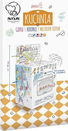 Kolorowanka 3D XXL Kuchnia (MO-489825) Gotuj i koloruj z mistrzem kotem - - Monumi - Księgarnia internetowa czytam.pl Mail Art, Bullet Journal, Paper Board