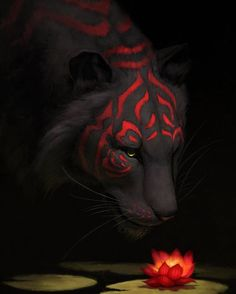 "3,899 Likes, 21 Comments - Inspiring Fantasy World (@inspiringfantasyworld) on Instagram: ""Artist: Jade Mere Title: Tiger Lily  http://jademere.deviantart.com/art/Tiger-Lily-592687749…"""