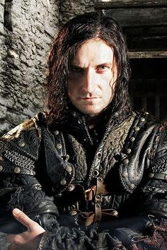 Guy of Gisborne.  Yes, you. You were so great in season in season 3. Well, you great in all the seasons, but particularly that one. You were brilliant as Robin's enemy. But you were perfectly perfect as Robin's ally. I mean, way way perfect. And when you died, I mourned you bad. Brothers in arms? Yeah. I died too. And I didn't like how Marian used you. Even though she had reason to. Sorta. It still wasn't nice.    And I love your costumes. All two of them.