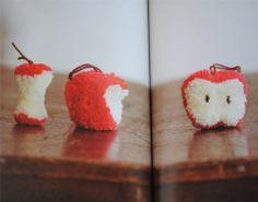 apple pom poms
