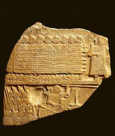 El ejército victorioso  El rey Eannatum de Lagash y sus soldados aparecen en el anverso de laEstela de los Buitres, con la que el monarca conmemoró su victoria sobre Umma. Hacia 2400 a.C.