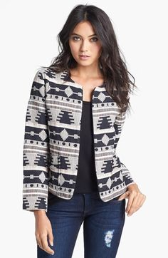 Like Mynded 'Tribal' Pattern Jacket available at #Nordstrom