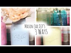 DIY: Colored Mason Jars 3 Ways. If youd like to suggest video ideas for future videos youd like to see, leave me a comment or message! Thank you so much for taking the time out of your day to watch my video! Please dont forget to thumbs up this video if Mason Jar Christmas Gifts, Mason Jar Gifts, Mason Jar Diy, Tinted Mason Jars, Colored Mason Jars, Decoupage Jars, Decoupage Tutorial, Fairy Glow Jars, Chalk Paint Mason Jars