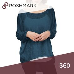 💝 SALE High Low Pullover Sweater Top for Leggings This lightweight loose knit sweater was made for leggings! The perfect comfy companion for casual days, goes great with jeggings and skinny jeans too. Hi low hem, longer in the back. Gorgeous jewel toned teal color. Super soft knit, lighter than a waffle knit.  Made in the USA  ❌ Sorry, no trades. fairlygirly Tops Tunics