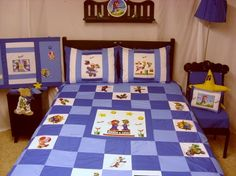 mario brothers quilts for new bedroom...R=Green, Z=Red, M=Blue all with yellow and white