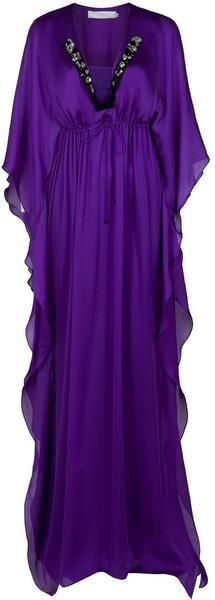 Ghadah Maxi Kaftan in Purple