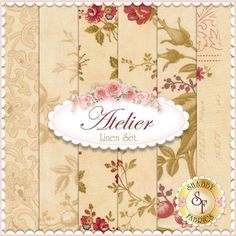 3 Sisters for Moda: Atelier Collection in Linen | Shabby Chic quilting fabric