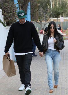 12/23/17 - Kourtney Kardashian + Younes Bendjima out for lunch in LA.