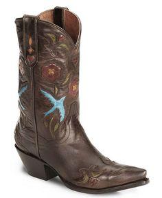 Dan Post Blue Bird Wingtip Cowgirl Boot