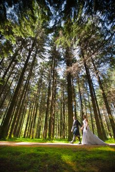 Cynthia and Chris on their wedding day in Gougane Barra National Forest Park #amazing #nature #wedding #photography #ireland