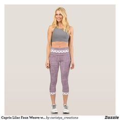 Capris Lilac Faux Weave with Eyelet trim Before And After Weightloss, Gym Clothes Women, Girly, Glamour, Turquoise, Yoga Wear, Blue Glitter, Capri Leggings, Blue Leggings