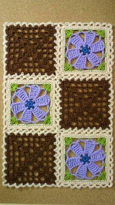 200가지 꽃 모티브 이불만들기 참고 : 네이버 블로그 Crochet Square Patterns, Crochet Blocks, Crochet Stitches Patterns, Crochet Squares, Crochet Designs, Knitting Patterns, Crochet Afghans, Crochet Motif, Free Crochet