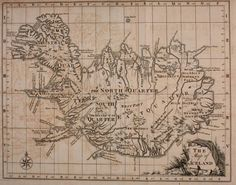 Geopolitical – Map – The Map of Iceland   Vintage Printable at Swivelchair Media – Beta