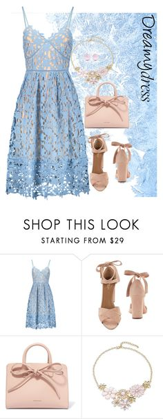 """""""Day Dreaming Dress"""" by delylahvasquez ❤ liked on Polyvore featuring Aquazzura, Mansur Gavriel, Design Lab and J.W. Anderson"""
