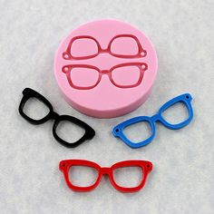 Eyeglasses Mold Mould Silicone Nerd Geek Resin Mold (302). $6.50, via Etsy.