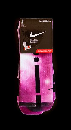 Thesockgame.com — Breast Cancer Pink Galaxies - Custom Nike Elite Socks