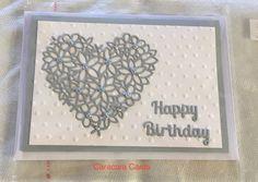 Handmade Card with heart die IO DIE054-S