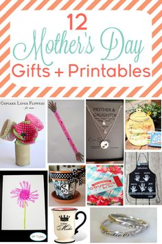 12 Mother's Day Gifts, Crafts + Printables www.iheartartsncrafts.com  #mothersday #mom #printables