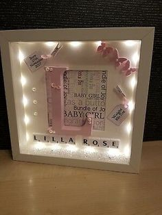 Photo & Picture Frames Home, Furniture & DIY The Effective Pictures We Offer You About Frame Crafts christmas A quality picture can tell you many things. You can find the most beautiful pictures Baby Box Frame Ideas, Box Frame Ideas Diy Crafts, Baby Frame, Photo Frame Crafts, Diy Box, 3d Box Frames, Box Frame Art, Shadow Box Frames, Cadre Photo Diy
