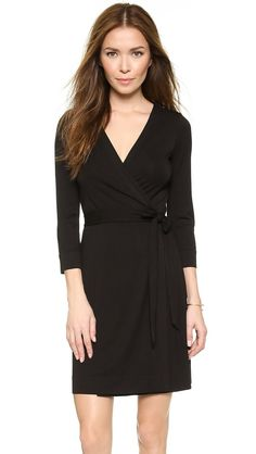 Dvf wrap dress black