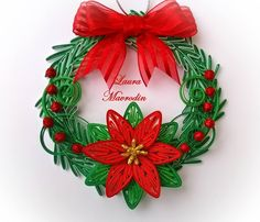 *QUILLING ~ Christmas quilling by Laura!