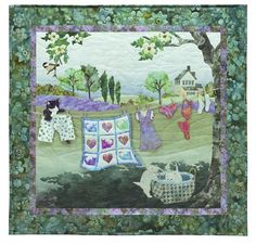 Laundry Day Quilt Kit - Includes Pre-cut & Pre-fused Appliqués from McKenna Ryan Wind in the Whiskers Series