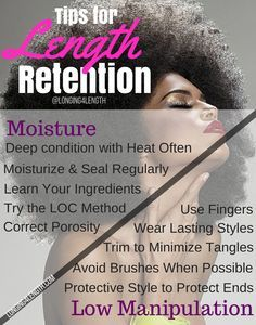Moisture and Low Manipulation for Natural Hair Length Retention # Hair Care Natural Hair Care Tips, Natural Beauty Tips, Natural Hair Journey, Be Natural, Natural Hair Styles, Long Hair Styles, Natural Face, Twisted Hair, Manipulation