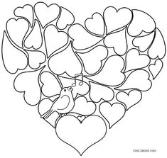 Beautiful Valentine Coloring Page. Perfect for our home made water ...