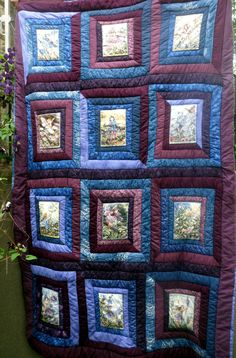 Flower Fairy Quilt  Purple and Blue Cicely Mary Barker Fairies Elves Violet Lavender Green Lilac Reversible  Patchwork by MilkweedQuilts on Etsy https://www.etsy.com/listing/155022614/flower-fairy-quilt-purple-and-blue