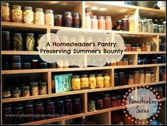 A Homesteader�s Canning Shelves: Preserving Summer�s Bounty.