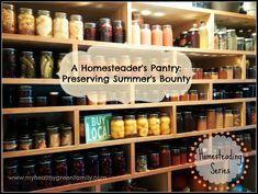 A Homesteader's Canning Shelves: Preserving Summer's Bounty.