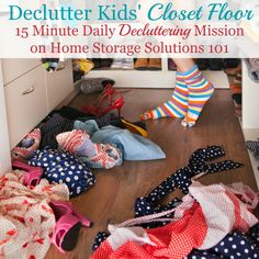 How to declutter kids