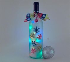 Make this for a winter decoration with that empty bottle from Stone Hill Winery.