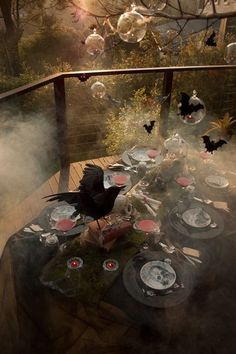 Creepy Halloween table decoration
