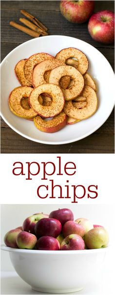 Homemade Apple Chips Recipe via @realfoodrecipes