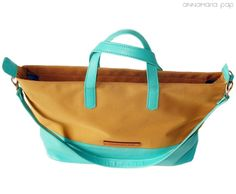 STAR Turquise handmade leather bag by Annamaria Pap Price: 71€ http://facebook.com/annamariapap