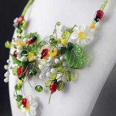 Handmade Lampwork Beads Set of 6 Glass by JewelryBeadsByKatie