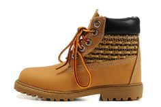 Fashion Winter Timberland Kids 6 Inch Shoes Wheat Yellow black,Timberland Men Boots