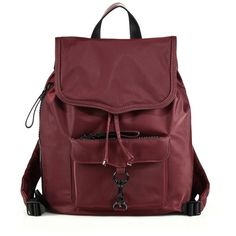 Rebecca Minkoff Nylon Bike Backpack (195 PAB) ❤ liked on Polyvore featuring bags, backpacks, backpack, apparel & accessories, port, drawstring backpack, red backpack, top handle bag, red drawstring backpack and drawstring backpack bags
