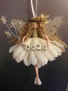 Christmas Ornament Crafts, Christmas Fairy, Christmas Angels, Christmas Crafts, Yarn Dolls, Felt Dolls, Fabric Dolls, Fairy Crafts, Doll Crafts