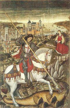 Saint George by Pedro Nisart, Mallorca, Spain, c.1468-70