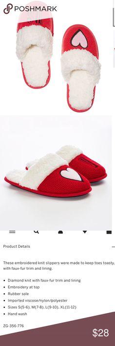 Victoria Secrets Slippers Bright cherry slippers. Brand new Victoria's Secret Shoes Slippers