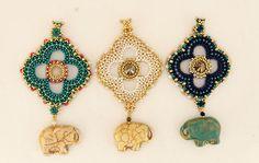 leslie test — Florida West Coast Bead Society Beaded Earrings, Crochet Earrings, Drop Earrings, Elephant Walk, Right Angle Weave, Rings N Things, Peyote Stitch, Quatrefoil, Seed Beads