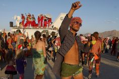 Inspired: Patrick Sperry dances during the Burning Man 2012 Fertility 2.0