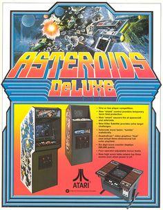 Asteroids Deluxe - Atari, 1981 #80s #flyer #retrogames