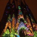 Fotos del Mapping de la Sagrada Familia en las fiestas de la Merce