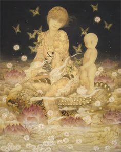 祝福すべき多くの世界 (?Many Blessing on Full World), by Masaaki Sasamoto (Japanese, born…